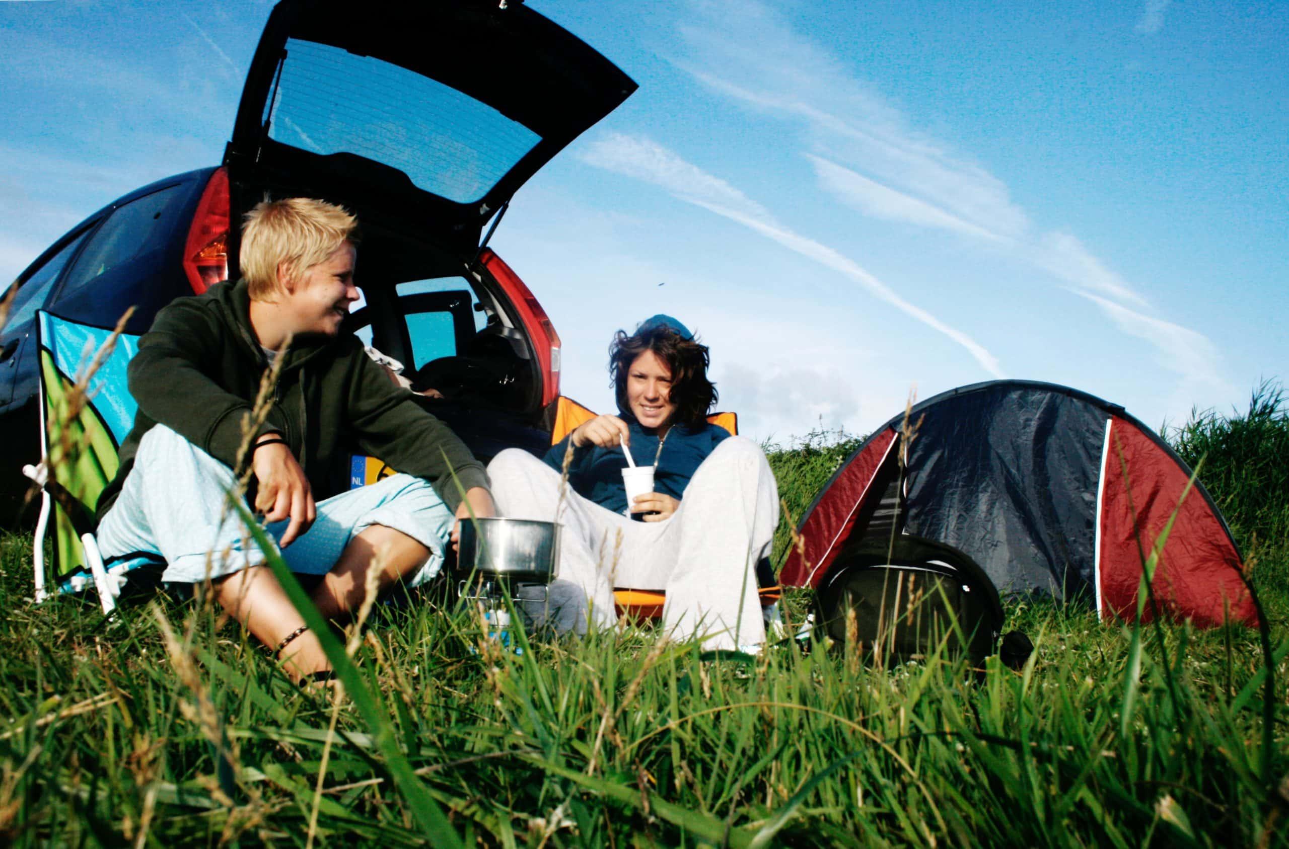 Vacanciers en camping